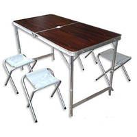 Складной стол-чемодан +4 стульчика, фото 1