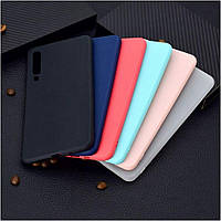 Матовый чехол Samsung Galaxy A50 A505 (силиконовая накладка) (Самсунг Галакси А50)