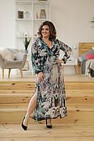 Платье женское летнее шифоновое длинное 40447, фото 1