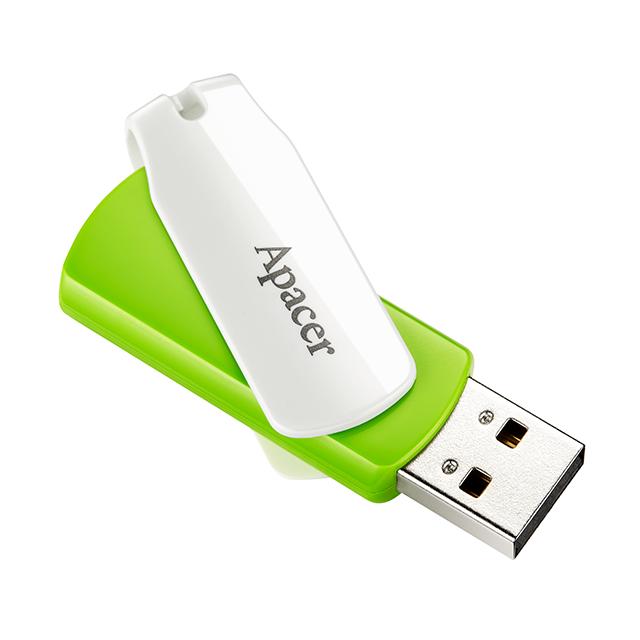 Флеш USB 2.0 Apacer AH335 16GB Green / White (AP16GAH335G-1)