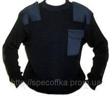 Свитер форменный (мод. V-shaped) черный 12-класс