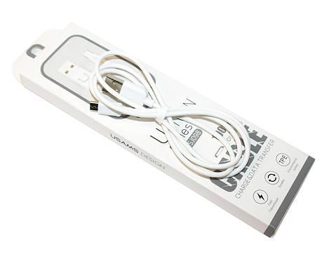 Кабель USAMS US-SJ098 USB - MicroUSB U-Turn series 100см Белый (MICUSBXD02), фото 2