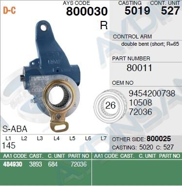 Разжимной рычаг MB авт 3834200438