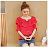 Свободная блузка с рюшами 42-44 (в расцветках), фото 3