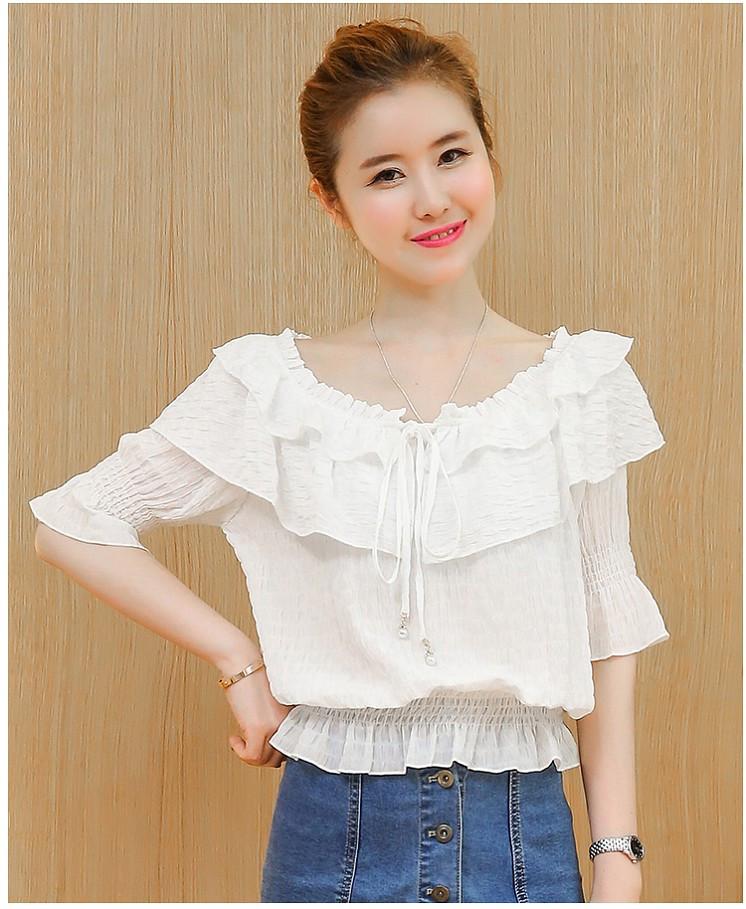 Свободная блузка с рюшами 42-44 (в расцветках)
