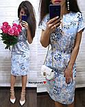 Женское легкое летнее платье с поясом (расцветки), фото 9
