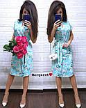 Женское легкое летнее платье с поясом (расцветки), фото 6