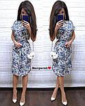 Женское легкое летнее платье с поясом (расцветки), фото 7
