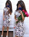 Женское легкое летнее платье с поясом (расцветки), фото 10