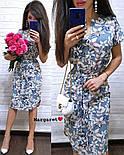 Женское легкое летнее платье с поясом (расцветки), фото 2