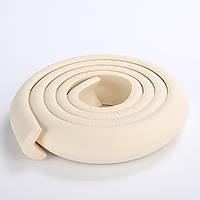 Защита на острые края мебели, лента защитная для торцов и углов мебели. Бело - кремовая.