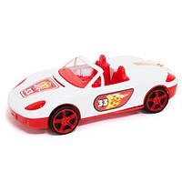 Машина кабриолет с наклейками (белая)