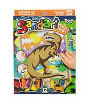 Фреска из цветного песка  Sandart  Тираннозавр SA-01-08