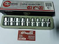 Набор головок 9 ед Torx E10-E24 Intertool .