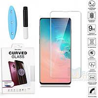 UV защитное стекло 3D Nano Optics для Samsung Galaxy S10 G973 полный клей (UV лампа в комплекте)