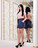 Женские прогулочные летние шорты с карманами и шнуровкой спереди, батал большие размеры, фото 10