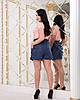 Женские прогулочные летние шорты с карманами и шнуровкой спереди, батал большие размеры, фото 9