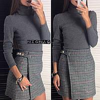 Женская стильная  юбка в клетку