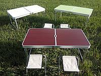 Усиленный стол для пикника с 4 стульями Sun Rise, коричневый