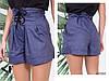 Женские прогулочные летние шорты с карманами и шнуровкой спереди, фото 3