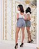 Женские прогулочные летние шорты с карманами и шнуровкой спереди, фото 9