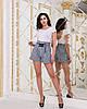 Женские прогулочные летние шорты с карманами и шнуровкой спереди, фото 7