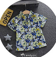Тениска для мальчиков с цветами 7905