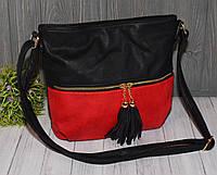 Женская сумочка черно-красная, фото 1