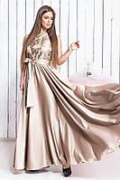 Женское длинное красивое платье с поясом