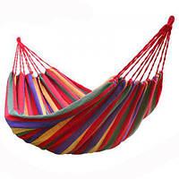Мексиканский гамак подвесной тканевый для отдыха 200х80 см с чехлом разноцветный