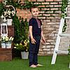 Синя футболка для хлопчика з орнаментом, фото 3