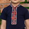 Синя футболка для хлопчика з орнаментом, фото 5