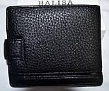 Мужской черный кошелек Balisa из искусственной кожи 12*10 см, фото 2