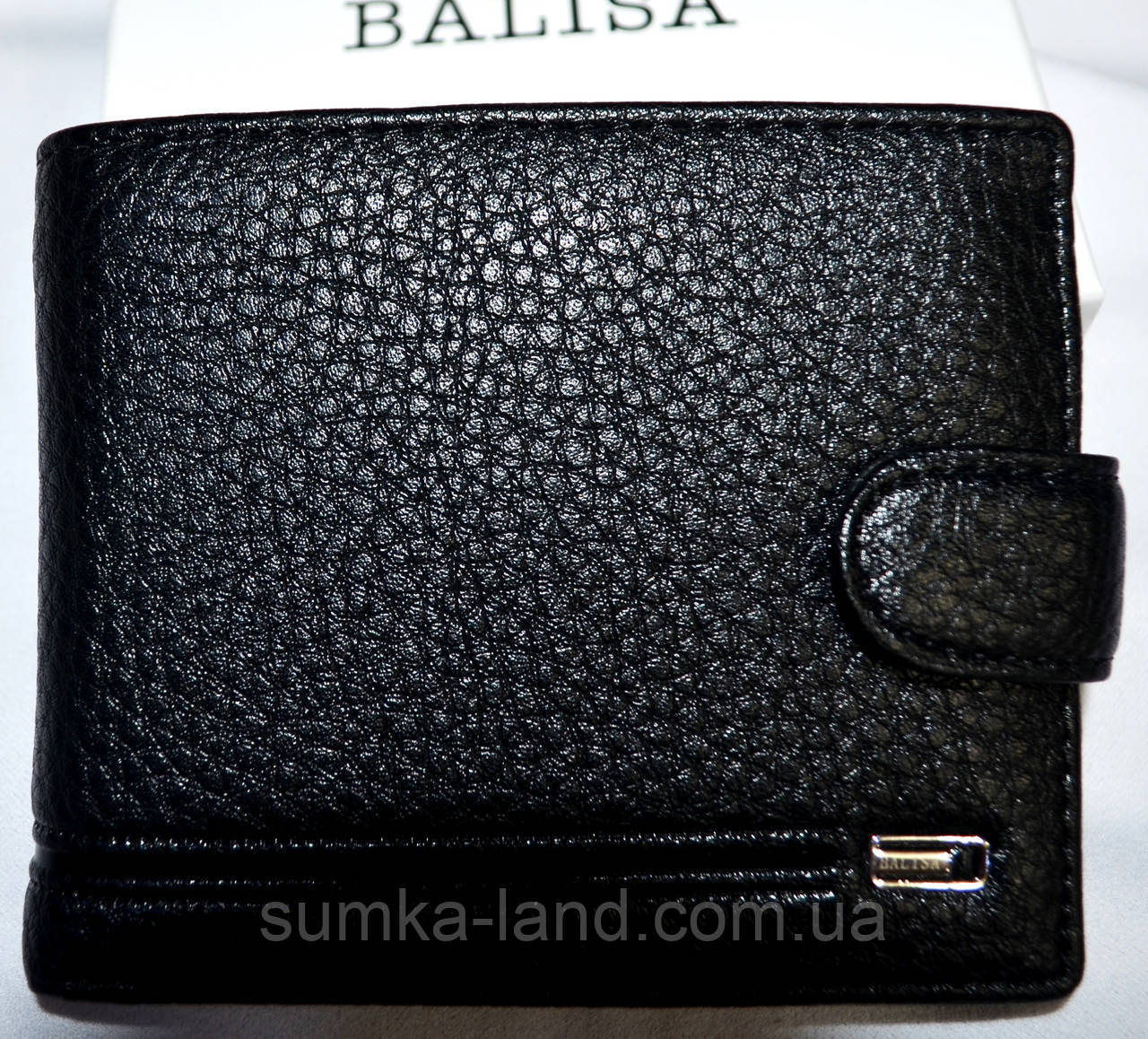 Мужской черный кошелек Balisa из искусственной кожи 12*10 см