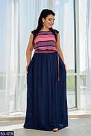 Длинное летнее платье 50-56 р, фото 1