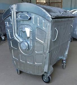Оцинкований сміттєвий бак 1100 літрів