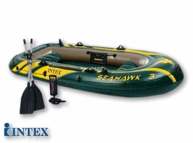 Надувная лодка intex 3х местная