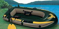 Надувная лодка intex 2х местная