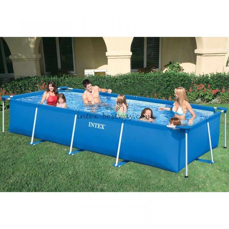 Каркасный бассейн Intex для большой семьи 450-220-85 см.
