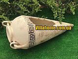 → Амфора для садового участка Венера, длина 62 см. Уличная керамика., фото 2