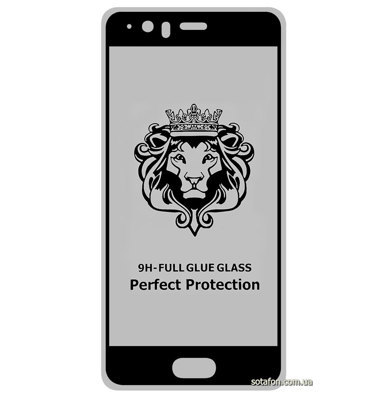 Защитное стекло 5D Full Glue для Huawei P10 Plus Black (Screen Protector 0,3 мм)