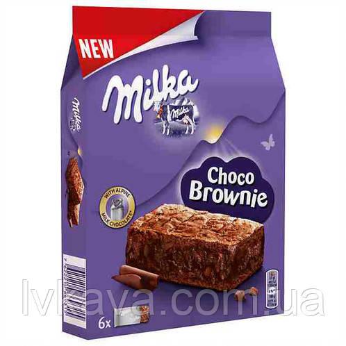 Шоколадный бисквит Milka Choco Brownie , 6 шт х 25 гр