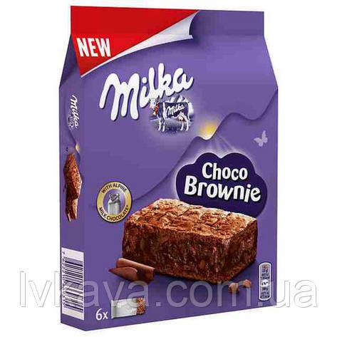 Шоколадный бисквит Milka Choco Brownie , 6 шт х 25 гр, фото 2