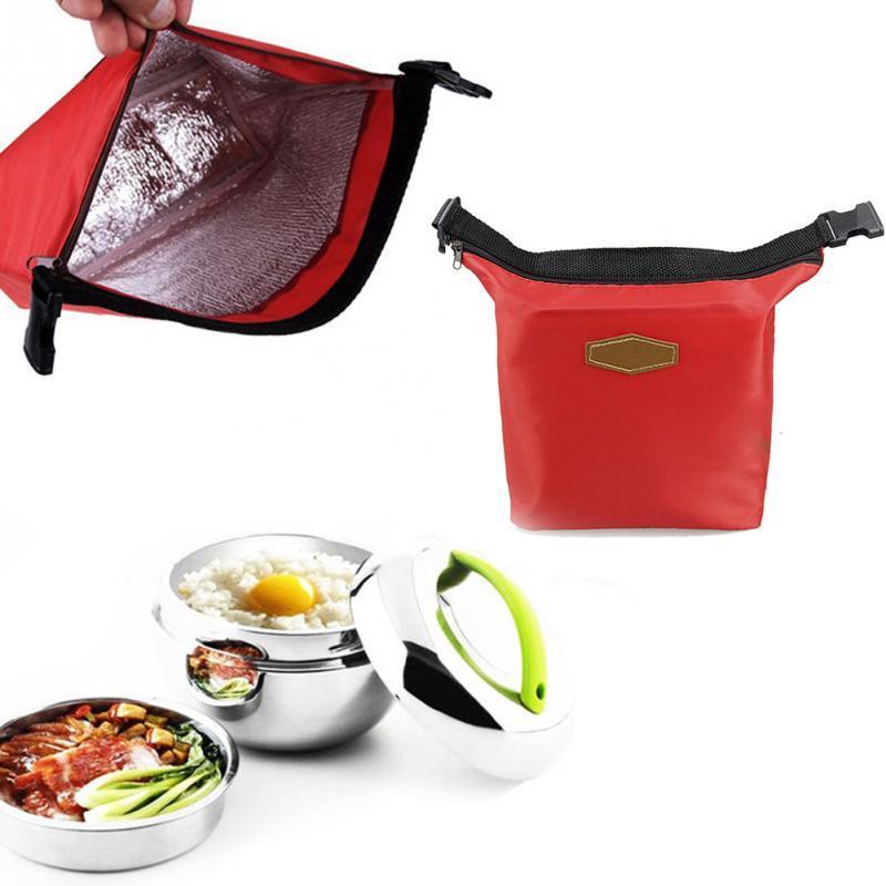 Термосумка , сумка холодильник ручки-застежки. Красная.