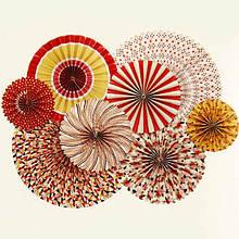 Гармошки, вееры бумажные, из папирусной бумаги декоративные для праздников