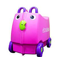 Дитяча Валіза на 4 коліщатках Trunki / Транки фіолетовий колір на 18 л. + Подарунок