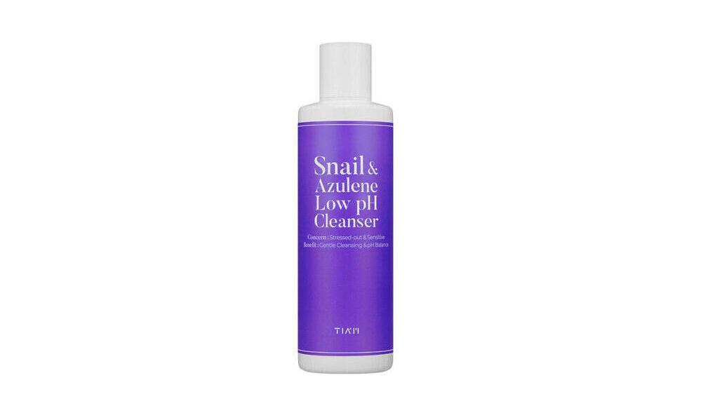 Деликатный очищающий гель TIAM Snail & Azulene Low pH Cleanser, 200 мл