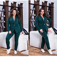 Женский стильный классический костюм большого размера