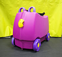Детский Чемодан на 4 колесиках Trunki / Транки темно-фиолетовый цвет на 18 л. + Подарок, фото 1