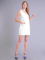 Платье - футляр молочное женское летнеее, хлопок, 44-50 р-ры